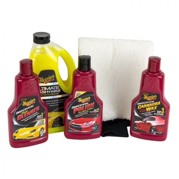 MEGUIAR'S MEGUIARS Shampoo & Step 1-3 Cleaner & Polish & Wax & Waschhandschuh