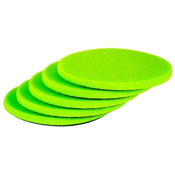 5x ZviZZer Polierpad Polierschwamm Polierscheibe neongrün ultrasoft 150/12 mm