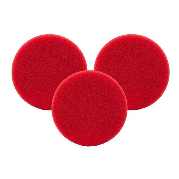 3x LIQUID ELEMENTS Polierpad Polierschwamm Polierscheibe rot hart 125/25 mm