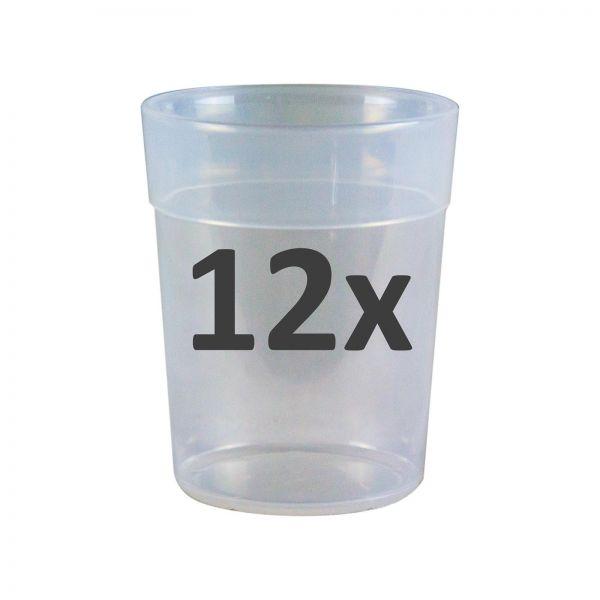 12x STOCKER Partybecher Kunststoffbecher Campingbecher Mischbecher 200 ml