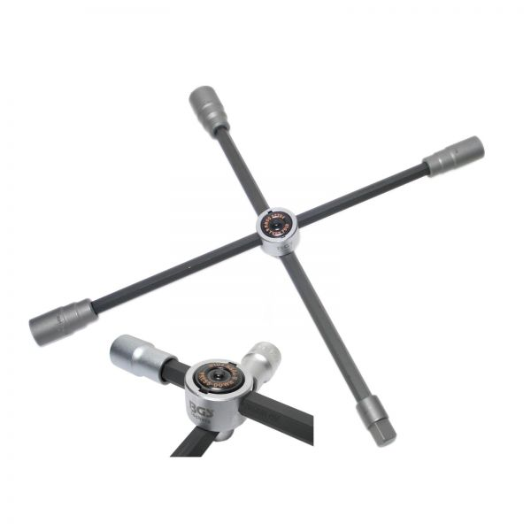 """BGS LKW-Radkreuz faltbar Vierkant SW 24 x 27 x 32 x 20 mm (3/4"""""""")"""