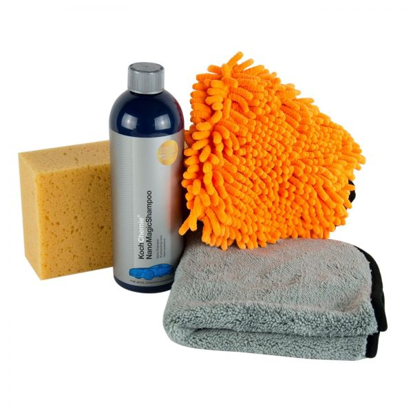 KOCH CHEMIE Nano Magic Shampoo Autoshampoo & Waschhandschuh & Schwamm & Tuch