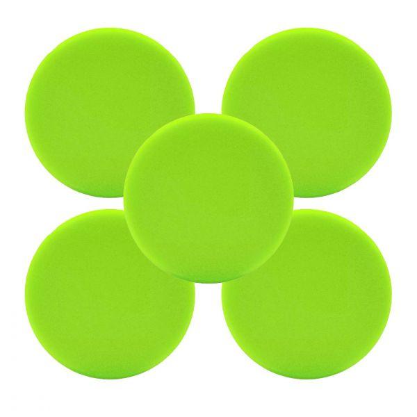 5x LIQUID ELEMENTS Polierpad Polierschwamm Polierscheibe grün weich 150/25 mm