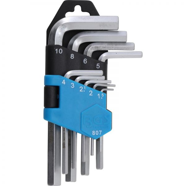 BGS Winkelschlüssel-Satz kurz Innensechskant 1,5 - 10 mm 9-tlg.