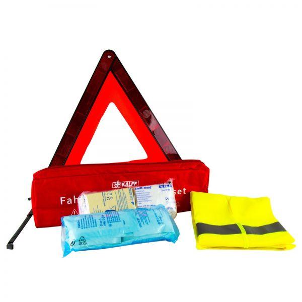 KALFF Sicherheitsset Warndreieck + Verbandkasten & Warnweste Unfallweste