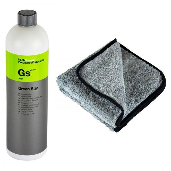 Koch Chemie GS Green Star Universalreiniger Reiniger 1 L & P4C Mikrofasertuch
