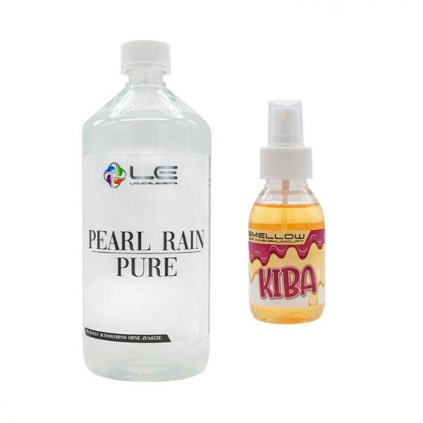 LIQUID ELEMENTS Pearl Rain Pure Shampoo 1 L + Smellow Kiba Innenraumduft 100 ml