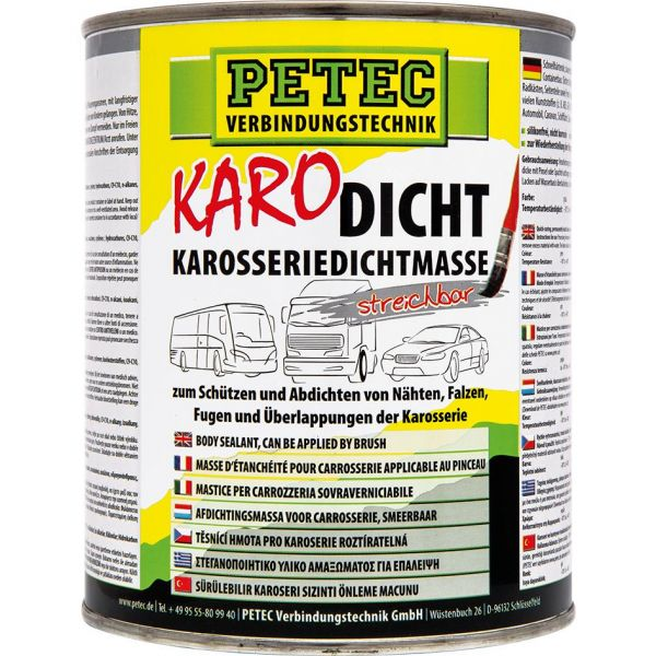 PETEC Karo-Dicht Dichtmasse Karosserie Dichtmasse steichbar Dichtung 1 L Liter