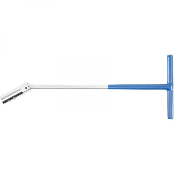 BGS Zündkerzenschlüssel mit T-Griff, Kugelgelenk SW 16 mm