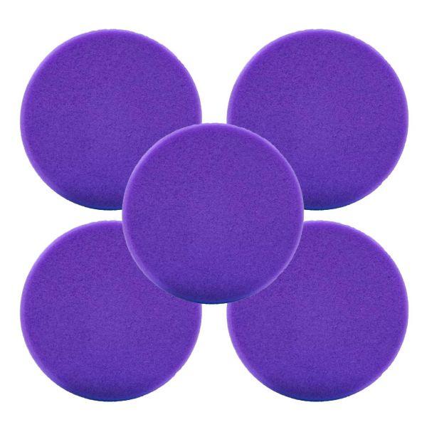 5x LIQUID ELEMENTS Polierpad Schwamm Polierscheibe lila extrem weich 80/20 mm