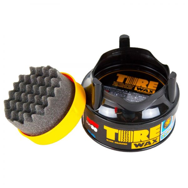 SOFT99 Tire Black Wax Reifenwachs Reifenpflege Reifenglanz 170 g + Schwamm