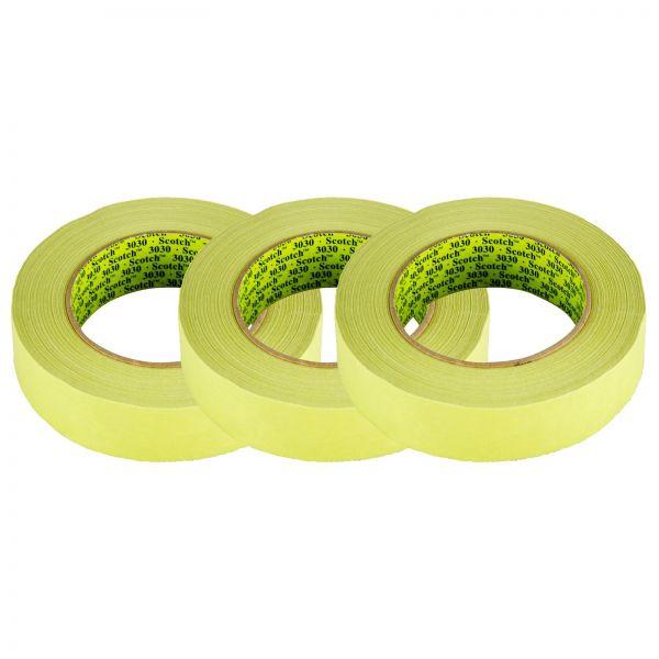 3x 3M Scotch Tape 3030 Klebeband Abklebeband Abdeckband grün 30mm x 50m 1 Stk