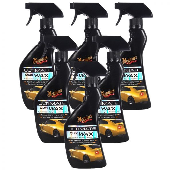 6x MEGUIAR'S MEGUIARS Ultimate Quik Wax Sprühwachs Wachs Autowachs 450 ml