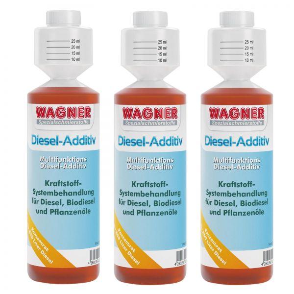 3x WAGNER SPEZIALSCHMIERSTOFFE Diesel-Additiv 2- und 4-Takt-Dieselmotoren 250 ml