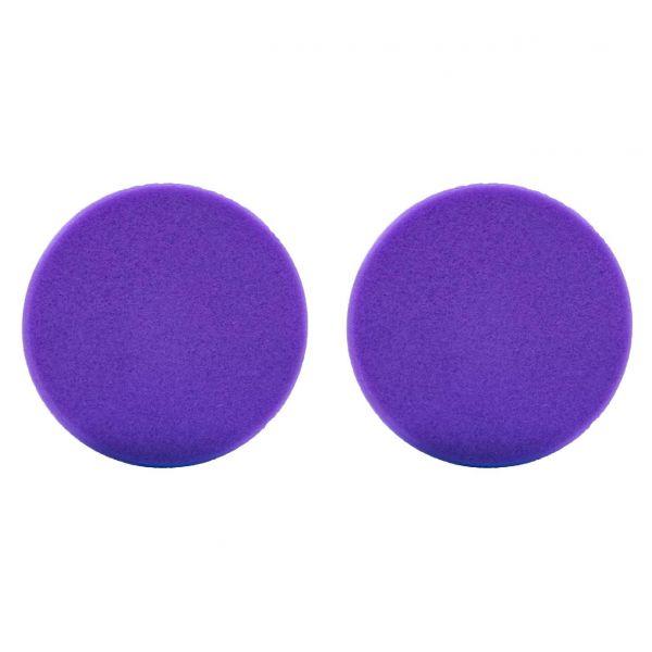 2x LIQUID ELEMENTS Polierpad Schwamm Polierscheibe lila extrem weich 80/20 mm