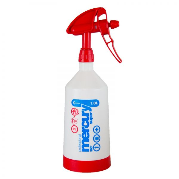 KWAZAR Mercury Super Pro+ 360 Grad Viton Sprühflasche Kunststoffflasche rot 1 L