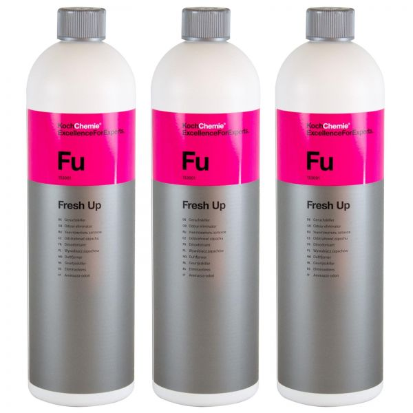 3x KOCH CHEMIE Fu Fresh Up Geruchskiller Geruchsentferner Geruchsvernichter 1 L