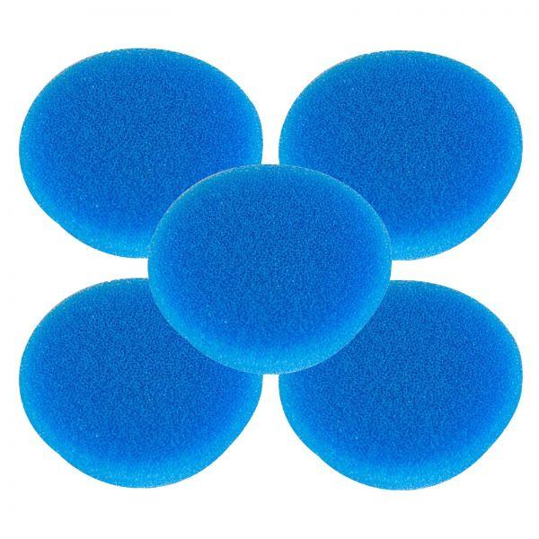 5x RUPES Polierpad Coarse Polierschwamm Polierscheibe blau hart 50-70mm