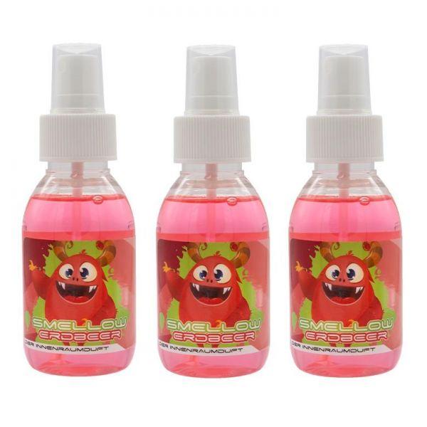 3x LIQUID ELEMENTS Smellow Erdbeer Innenraumduft Lufterfrischer Duft 100 ml
