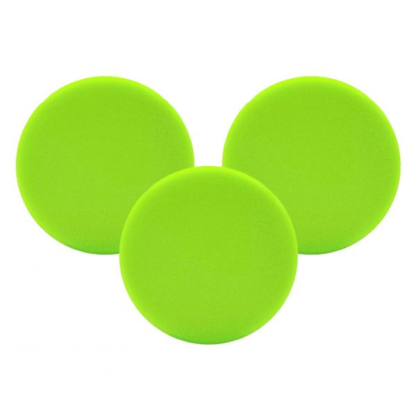 3x LIQUID ELEMENTS Polierpad Polierschwamm Polierscheibe grün weich 80/20 mm