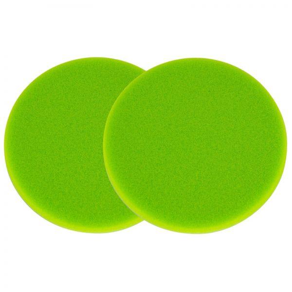 2x ZviZZer Polierpad Polierschwamm Polierscheibe neongrün ultrasoft 150/12 mm