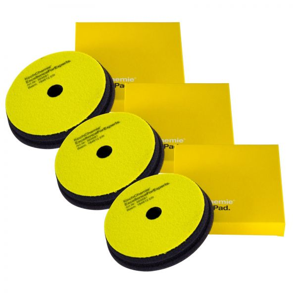 3x KOCH CHEMIE Fine Cut Pad Polierpad Polierschwamm Schleifschwamm 126/23 mm
