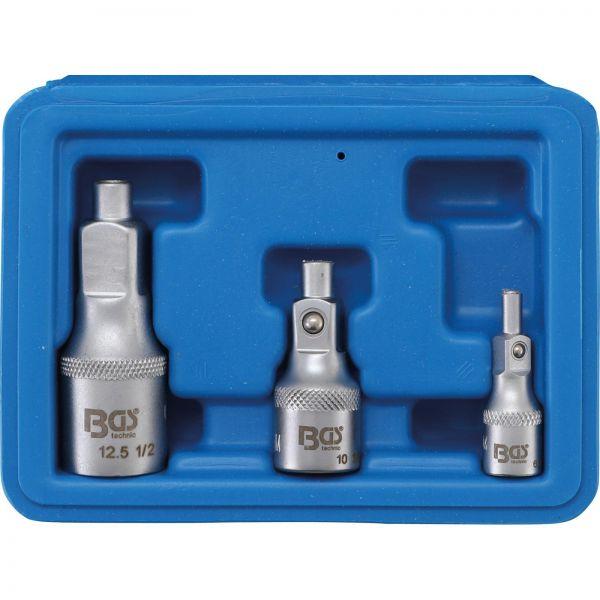 "BGS Verlängerungs-Satz 6,3 mm (1/4"""") 10 mm (3/8"""") 12,5 mm (1/2"""") 3-tlg."