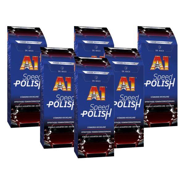 6x DR. WACK A1 Speed Polish Lackpolitur Autopolitur Politur Lack polieren 500 ml