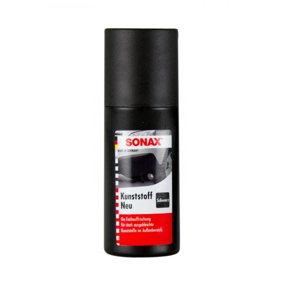 SONAX Kunststoff neu schwarz Kunststoffpflege Farbauffrischung Kunststoff 100 ml