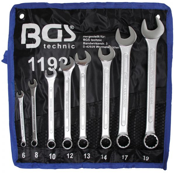 BGS Maul-Ringschlüssel-Satz SW 6 - 19 mm 8-tlg.