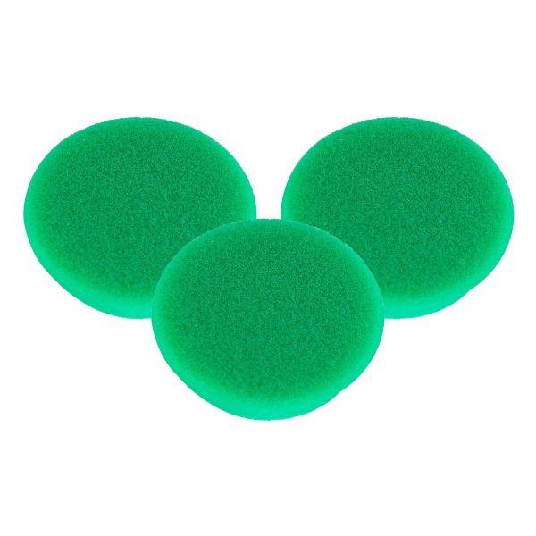3x RUPES Polierpad Medium Polierschwamm Polierscheibe grün mittel 30-40mm