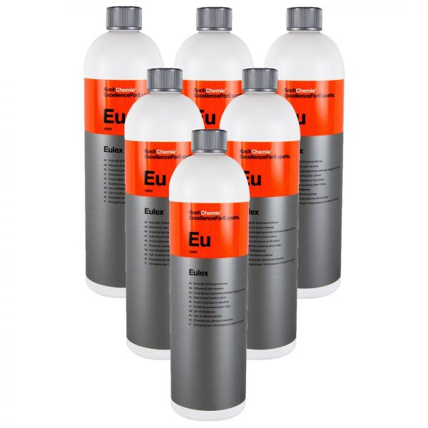 6x KOCH CHEMIE Eulex Klebstoffentferner Fleckenentferner Gummientferner 1 Liter