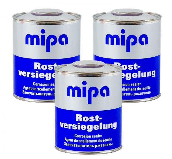 3x MIPA Rostversiegelung Rostschutz Roststopper Rostversiegelung Rost 750 ml