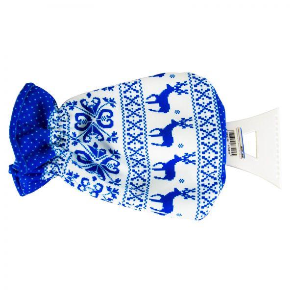 MAX4CAR Eiskratzer Eisschaber mit Handschuh Norway Blau/Rot Scheibenkratzer 1Stk