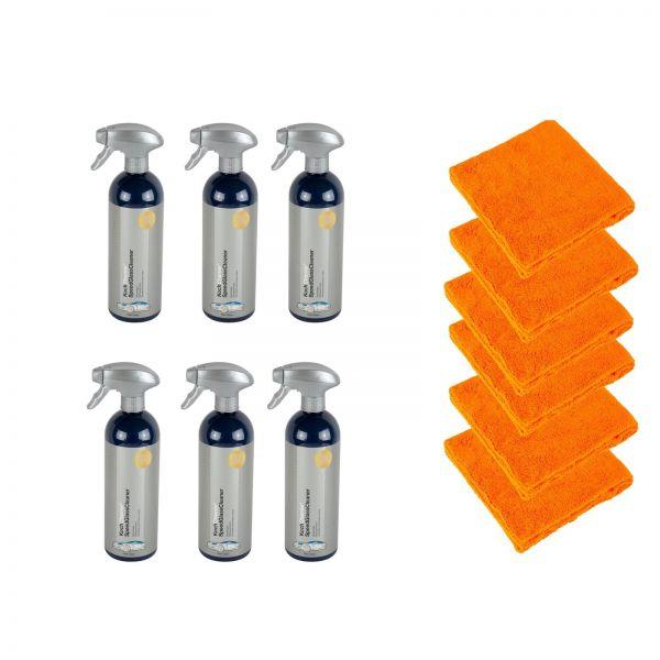 6x KOCH CHEMIE Speed Glass Cleaner Glasreiniger 750 ml & 6x Mikrofasertuch
