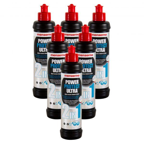 6x MENZERNA Power Protect Ultra 2in1 Hochglanzpolitur Lackversiegelung 250 ml