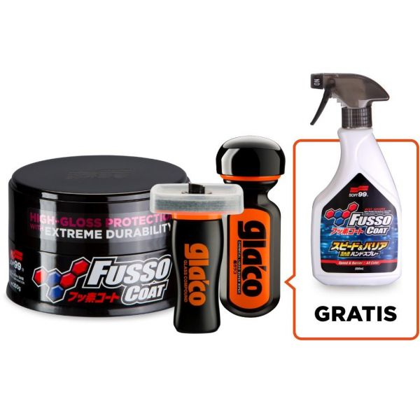 SOFT99 Fusso Coat 12M Wax Dark & Ultra Glaco & Glass Compound & Speed&Barrier