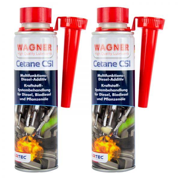 2x WAGNER SPEZIALSCHMIERSTOFFE Cetane CS1 Diesel-Additiv Diesel-Zusatz 300 ml