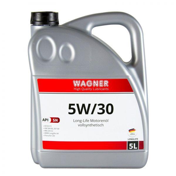 WAGNER SPEZIALSCHMIERSTOFFE Motorenöl Motoröl Longlife SAE 5W/30 5 L Liter