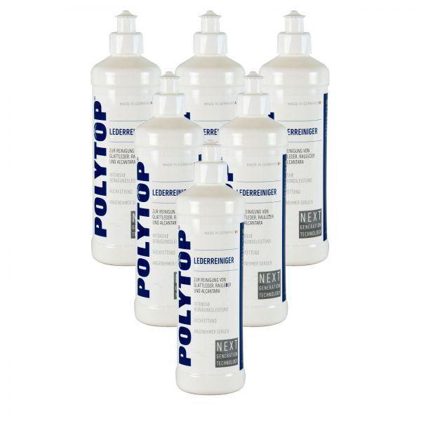 6x POLYTOP Lederreiniger Lederpflege Lederreinigung Lederaufbereitung 500 ml