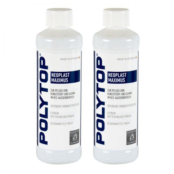 2x POLYTOP Neoplast Maximus Kunststoffpflege Kunststoff Gummipflege 500 ml