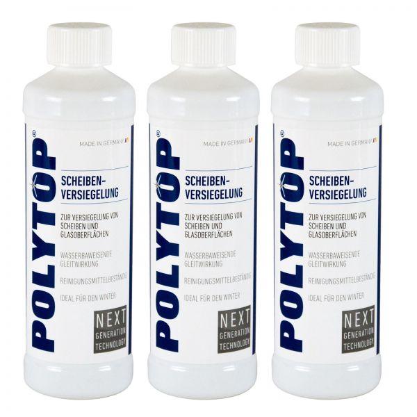 3x POLYTOP Scheibenversiegelung Scheiben Versiegelung Glasversiegelung 500 ml