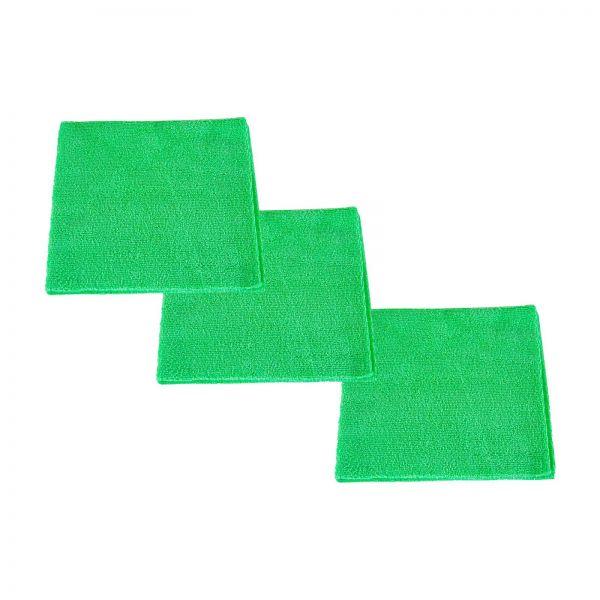 3x RUPES Mikrofasertuch Poliertuch Microfasertuch Trockentuch grün 40 x 40 cm