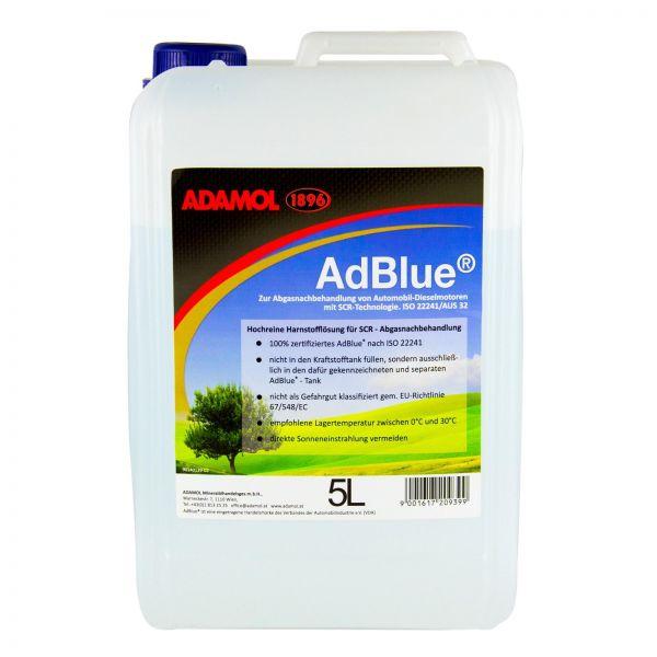ADAMOL 1896 AdBlue hochreine Harnstofflösung für SCR nach ISO 22241 5 L Liter
