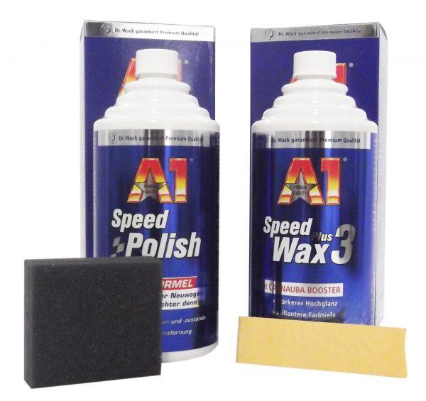 dr wack 1x a1 speed polish politur 500 ml 1x speed wax. Black Bedroom Furniture Sets. Home Design Ideas