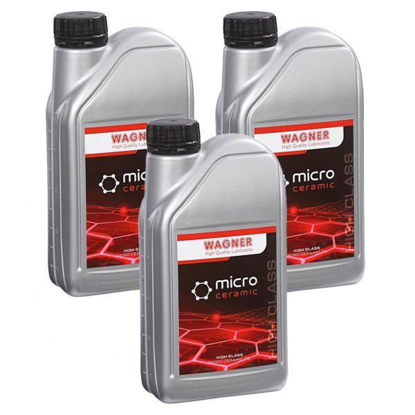 3x WAGNER SPEZIALSCHMIERSTOFFE Universal-Micro-Ceramic-Oil Öl-Zusatz 1 L Liter
