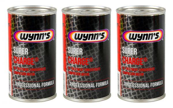 3x WYNN'S WYNNS Super Charge Motorölzusatz Ölzusatz Ölverbrauchstop 325 ml