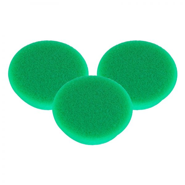 3x RUPES Polierpad Medium Polierschwamm Polierscheibe grün mittel 50-70mm