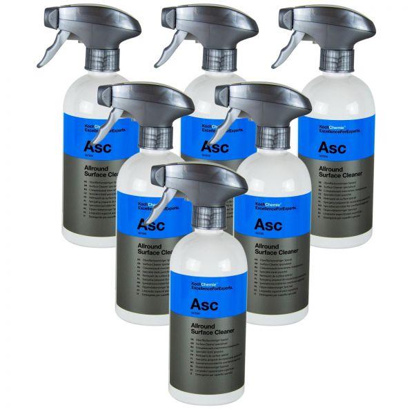 6x KOCH CHEMIE Asc Allround Surface Cleaner Spezial Oberflächenreiniger 500 ml