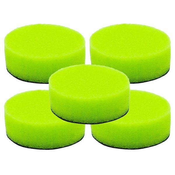 5x LIQUID ELEMENTS Polierpad Polierschwamm Polierscheibe grün weich 40/15 mm